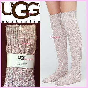UGG Cable Knit Over The Knee Socks Thigh High